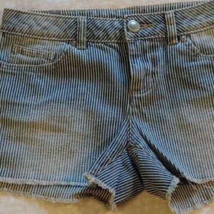 Lauren Conrad Railroad Stripe Jean Shorts